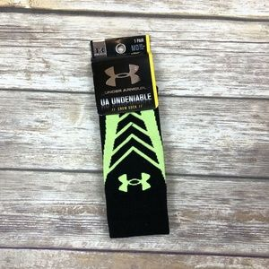 Under Armour Men's Heatgear Shoe Socks Size M